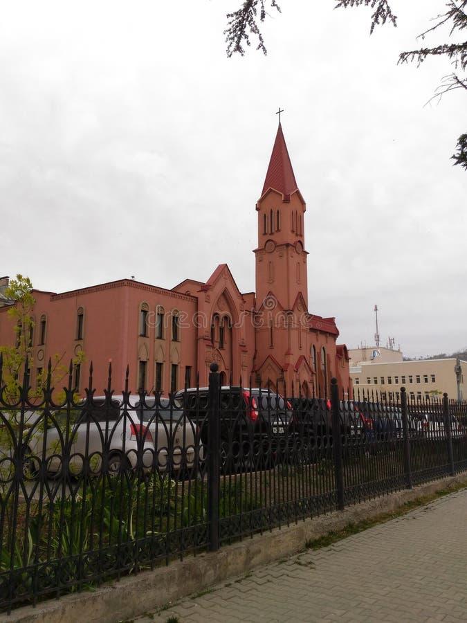 l'église catholique Russie photo libre de droits