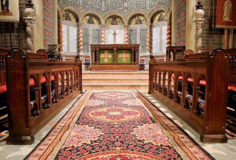 L'église changent et choeur fortement décoré d'abside de Wilton photographie stock libre de droits