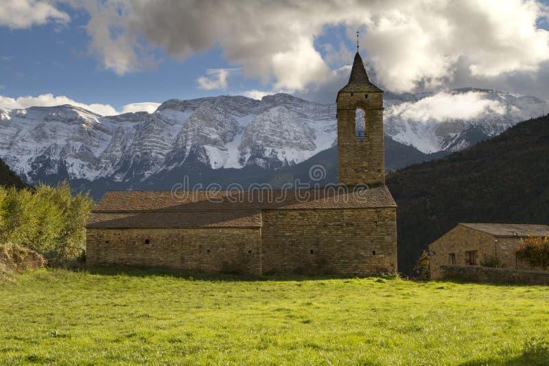 L'église d'Arsèguel photos libres de droits
