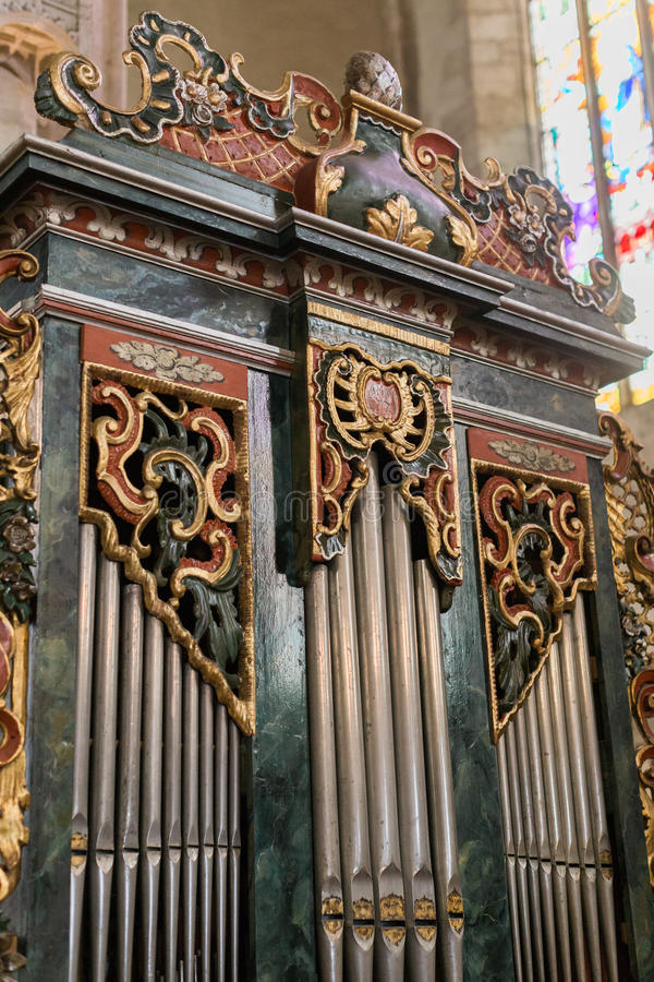 L'église d'organe de St Michael est une église de style gothique de Roman Catholic à Cluj-Napoca photos libres de droits