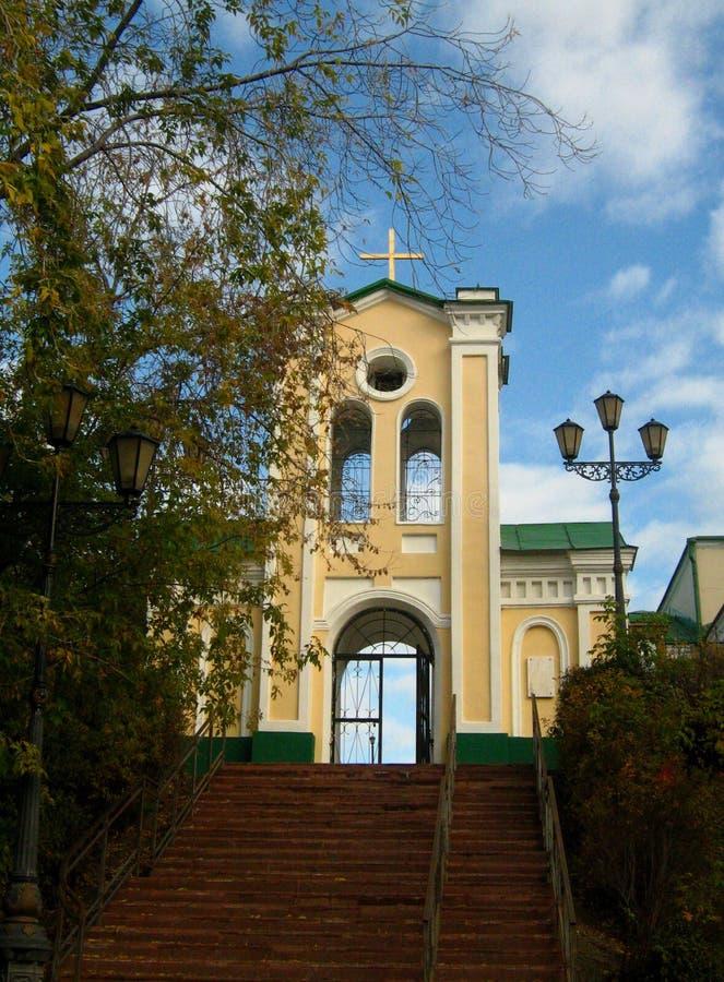 L'église dans la ville sibérienne de Tomsk image stock