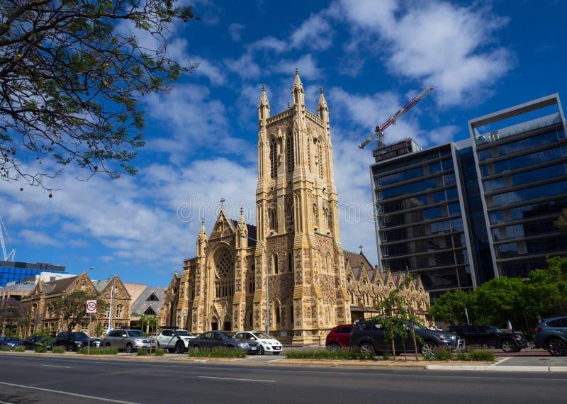 L'église de cathédrale de St Francis Xavier est une cathédrale catholique à Adelaïde, Australie du sud photo stock