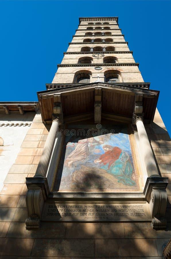 L'église de la paix en parc de Sanssouci photos stock