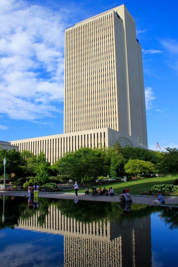 L'église de LDS siège le bâtiment à Salt Lake City, Utah photographie stock libre de droits