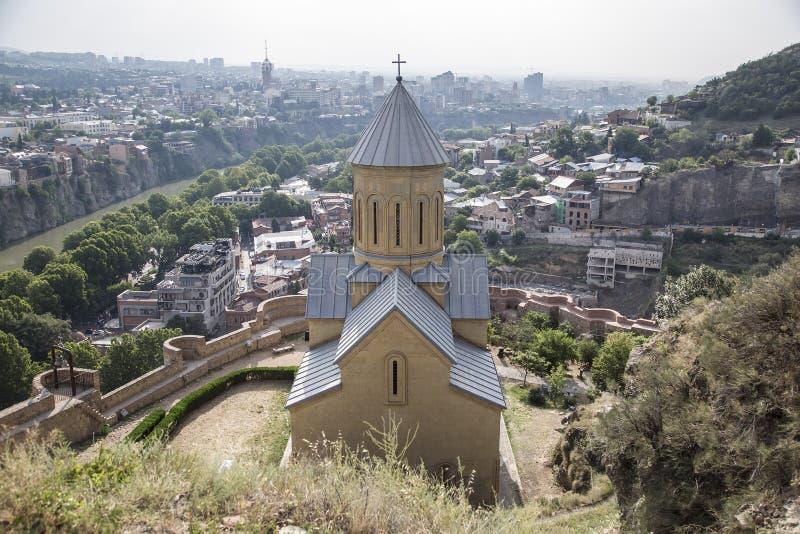 L'église de Saint-Nicolas à Tbilisi photographie stock libre de droits
