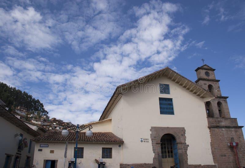 L'église de San Blas dans Cuzco Pérou image libre de droits