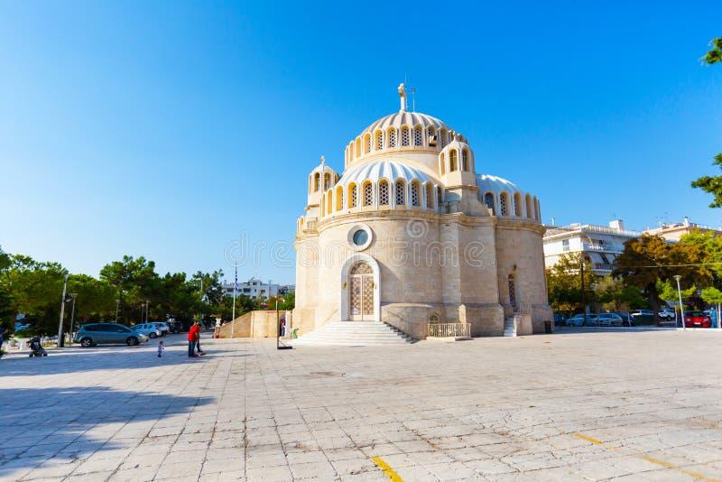 L'église de St Constantine et Hélène Glyfada, Grèce images libres de droits