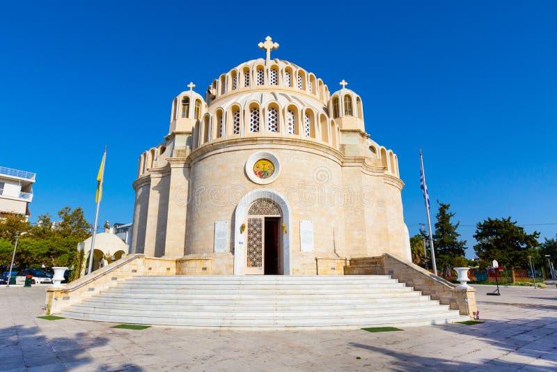 L'église de St Constantine et Hélène Glyfada, Grèce photos libres de droits