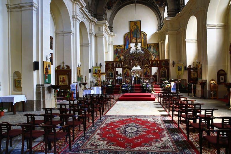 L'église de St Cyrille et Methodius, Prague, République Tchèque image stock