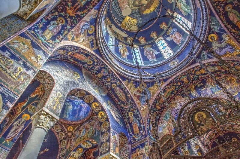 L'église de St George chez Oplenac, Serbie images stock