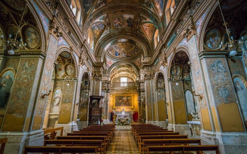 L'église de St George dans Salerno, Campanie, Italie image libre de droits