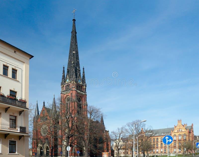 L'église de St John, Gera, Allemagne images stock