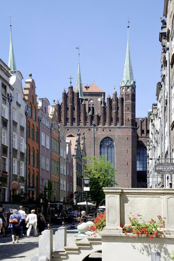 L'église de St Mary de Danzig en Pologne photographie stock libre de droits