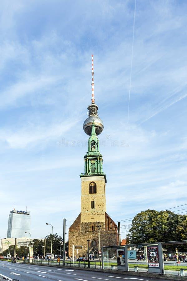 L'église de St Mary (Marienkirche) à Berlin photos stock