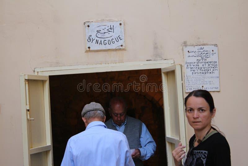 L'église de synagogue est une petite église chrétienne au coeur de Nazareth, Israël photographie stock