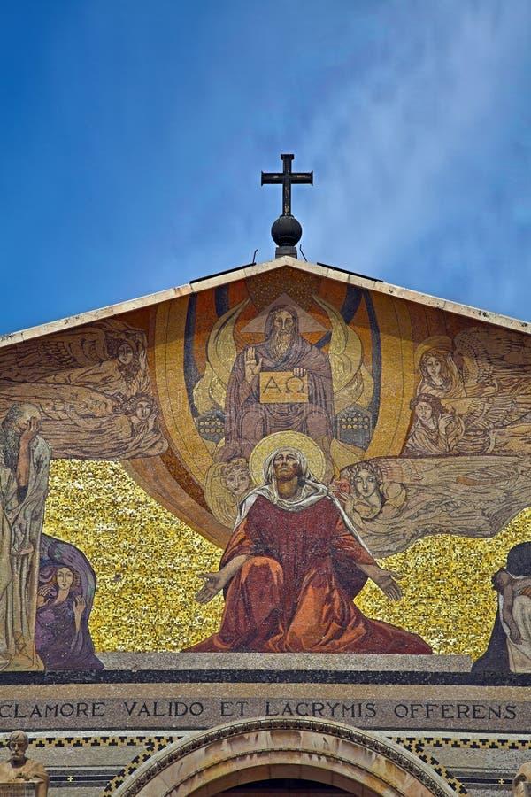 Église de toutes les nations - Gethsemane photographie stock