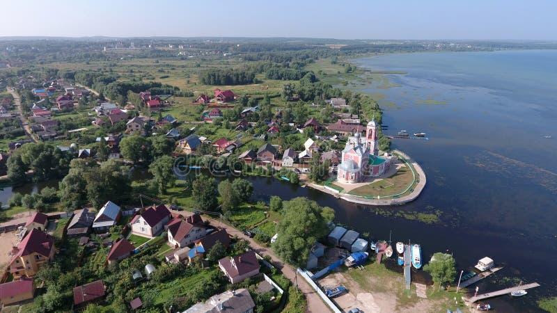 L'église des 40 martyres de Sebaste dans ci de Pereslavl-Zalessky images libres de droits