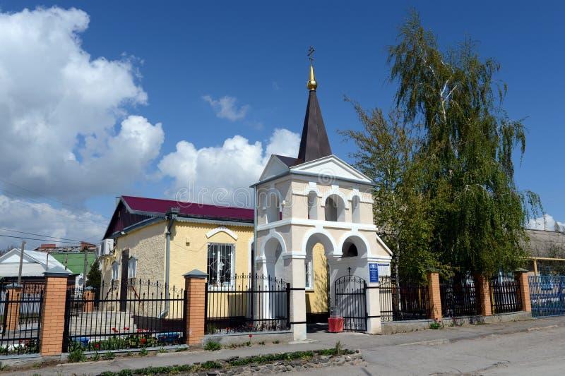 L'église du grands martyre et guérisseur saints Panteleimon du diocèse de Volgodonsk dans Tsimlyansk image libre de droits