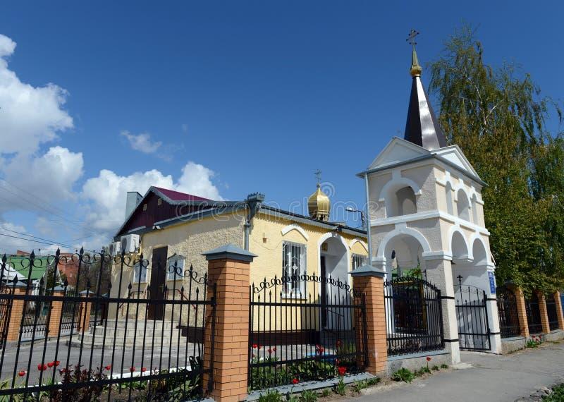 L'église du grands martyre et guérisseur saints Panteleimon du diocèse de Volgodonsk dans Tsimlyansk photos stock