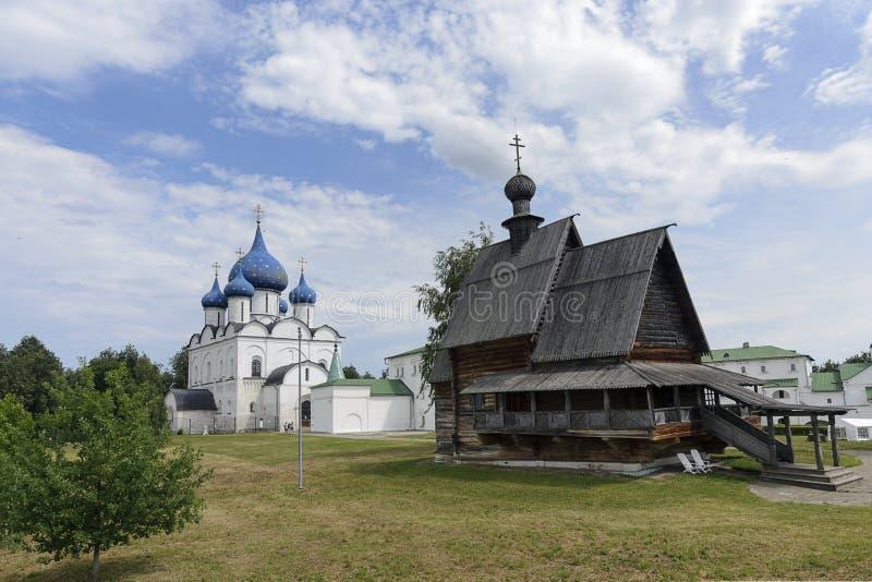 L'église en bois de ` de Saint-Nicolas, Suzdal Kremlin image libre de droits