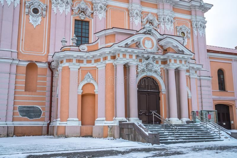 L'église Entrans de St Casimir est une église catholique romaine de la vieille ville de Vilnius photographie stock