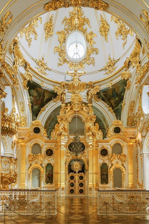 L'église grande du palais d'hiver (ermitage d'état) dans St P photographie stock