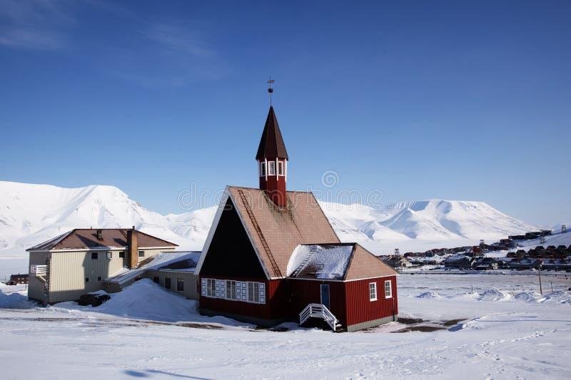 l'église longyearbyen photographie stock libre de droits