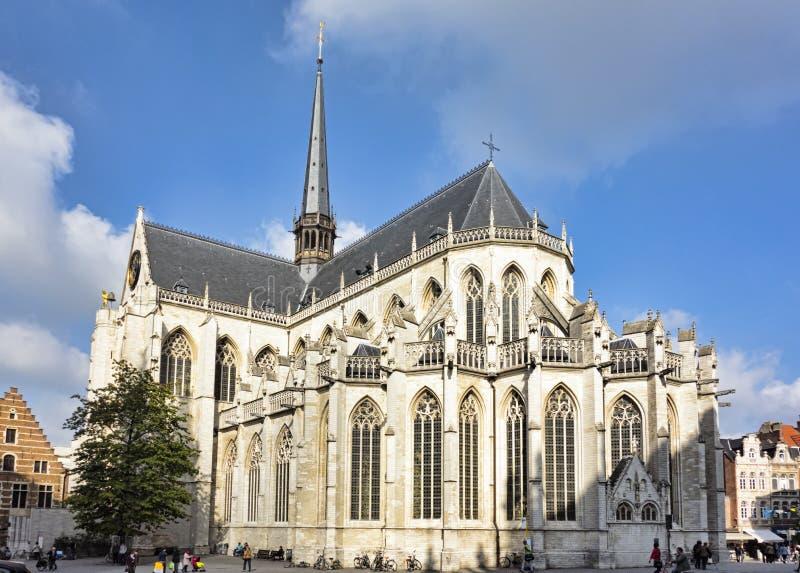 L'église Louvain Belgique de Peter de saint image stock