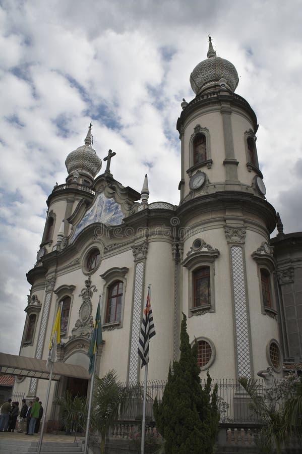L'église Nossa Senhora font le Brésil photo stock