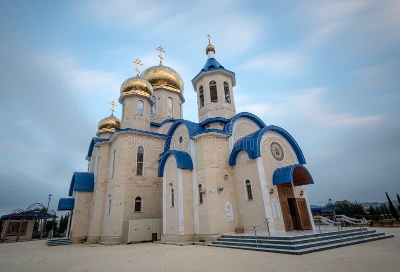 L'église orthodoxe de style russe célèbre au village Episkopio de en Chypre photo stock