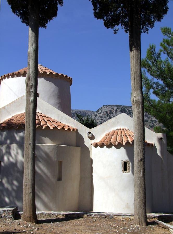 L'église orthodoxe orientale dans Panagia Kera images libres de droits