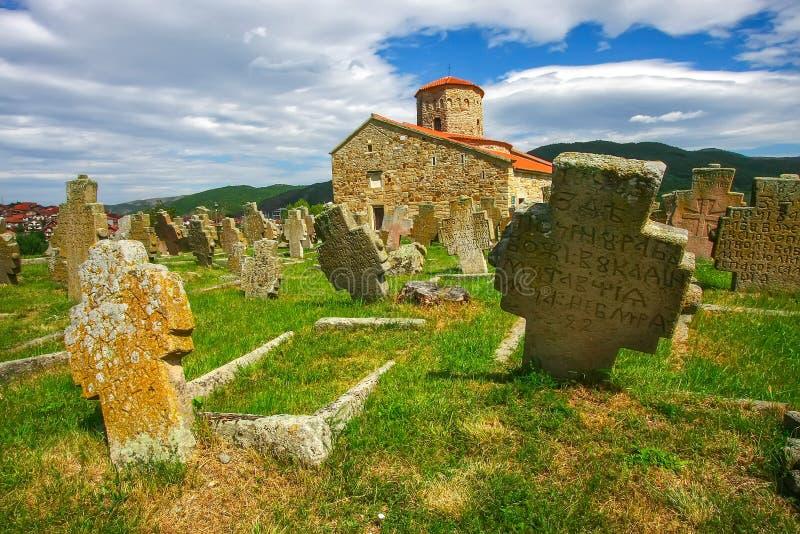 L'église Petrova Crkva de St Peter, situé près de la ville de Novi Pazar La Serbie, photographie stock libre de droits