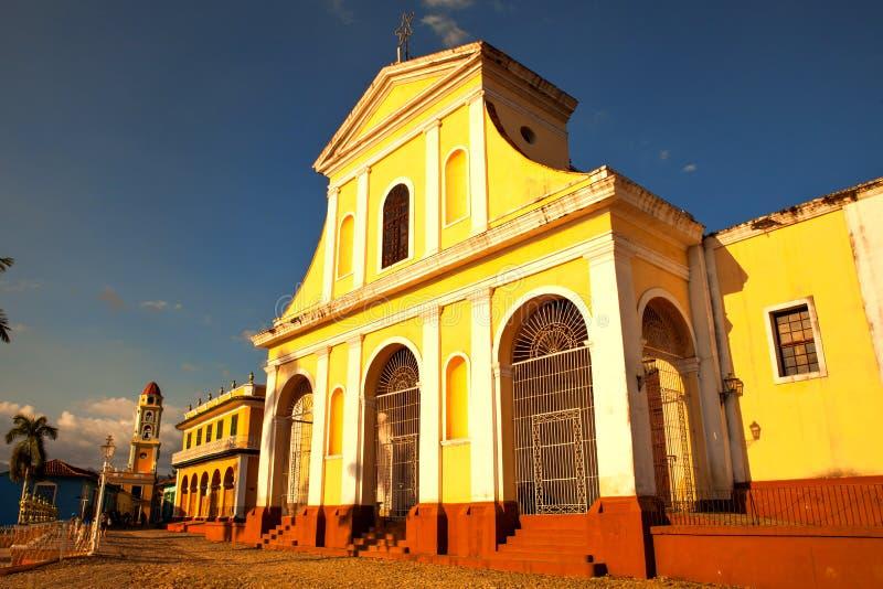 L'église principale ville de patrimoine mondial de l'UNESCO de la vieille de Trinida image libre de droits
