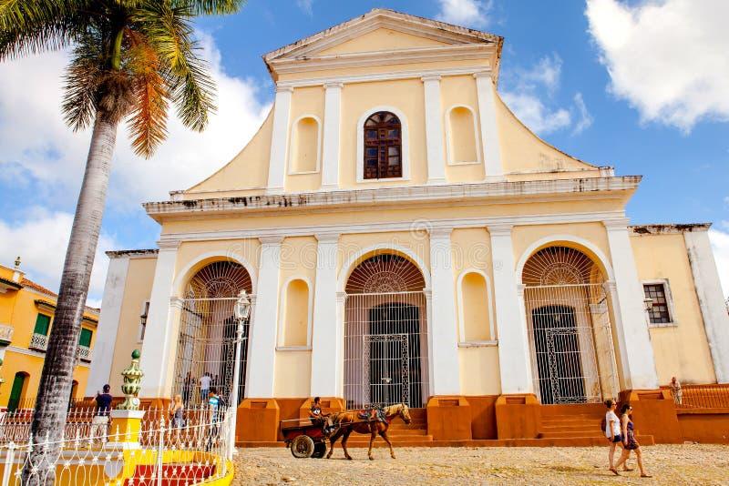 L'église principale ville de patrimoine mondial de l'UNESCO de la vieille du Trinidad/du Cuba photo stock