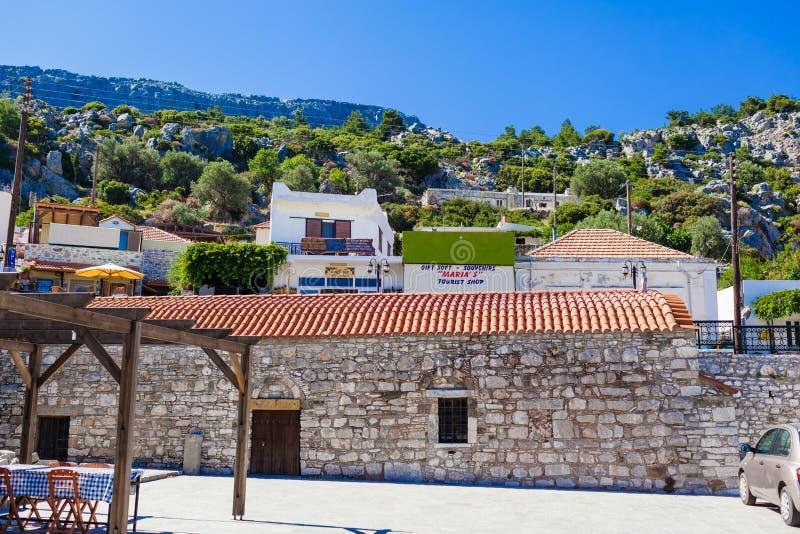 L'église Saint-Panteleimon est l'une des plus anciennes églises orthodoxes de Rhodes photos stock