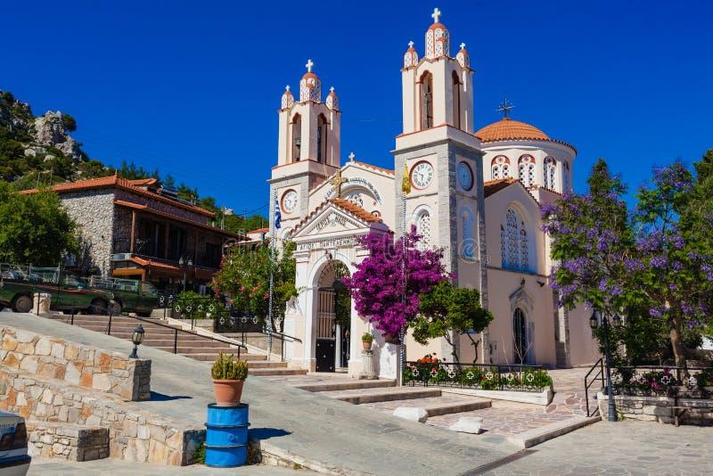 L'église Saint-Panteleimon est l'une des plus anciennes églises orthodoxes de Rhodes images libres de droits