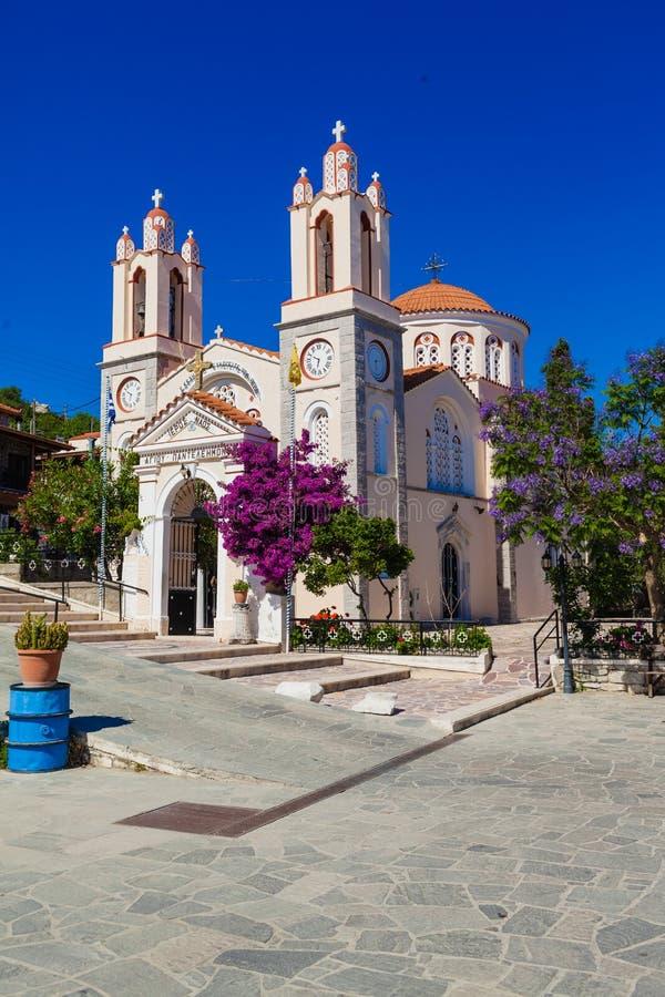 L'église Saint-Panteleimon est l'une des plus anciennes églises orthodoxes de Rhodes images stock