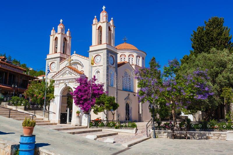 L'église Saint-Panteleimon est l'une des plus anciennes églises orthodoxes vénérées de Rhodes image stock