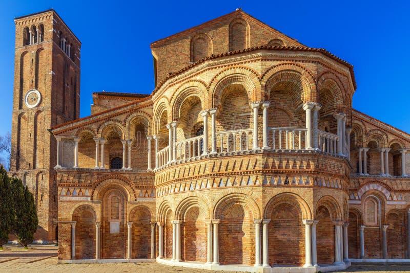 L'église Santa Maria e San Donato de l'île de Murano dans l'archipel vénitien Venise, Italie image stock
