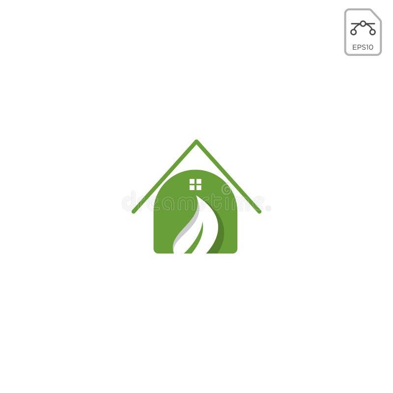 l'élément à la maison d'icône de vecteur d'inspiration de conception de logo de nature a isolé illustration de vecteur