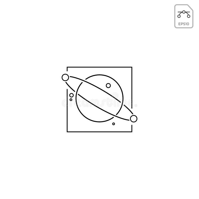 l'élément d'icône de vecteur de conception de logo de galaxie de planète a isolé illustration de vecteur