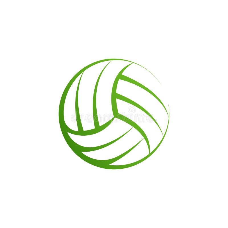 L'élément de logo de volleyball, icône de boule de volée de vecteur, a isolé le calibre de signe de sport Valleyball de plage d'é illustration stock