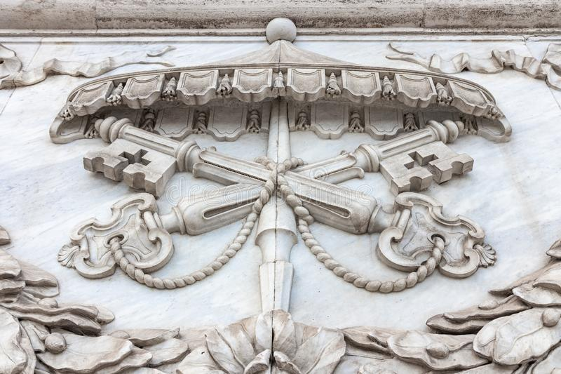 L'élément de marbre de décor de la basilique de San Giovanni papale photo stock