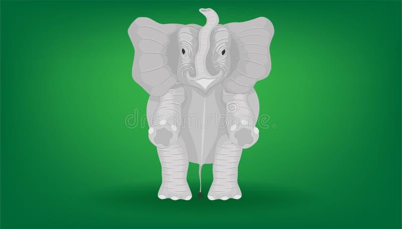 L'éléphant minimal debout 2 deux jambes pour le show-fight illustration eps10 illustration stock