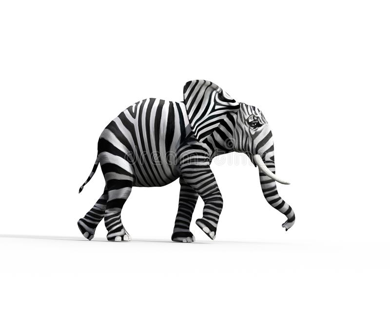 L'éléphant soit différent illustration stock