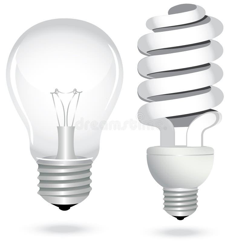 L'électricité économiseuse d'énergie réglée de lampe d'ampoule illustration de vecteur