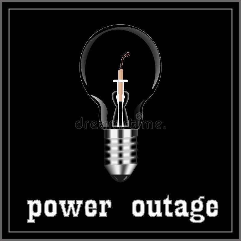 L'électricité a été découpée et le burn-out de match illustration libre de droits
