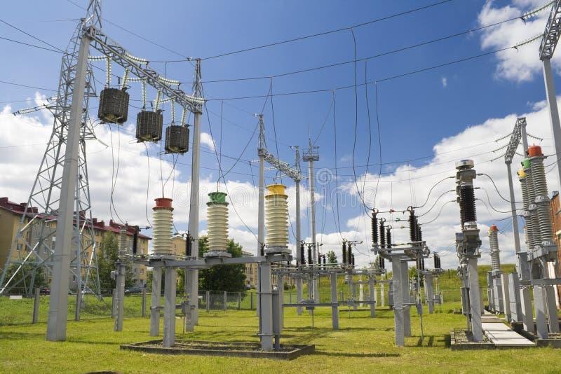 L'électricité pour une ville photos libres de droits