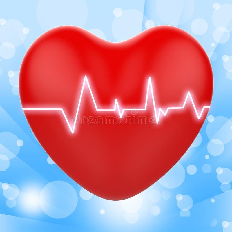 L'électro sur le coeur montre des relations passionnées illustration de vecteur