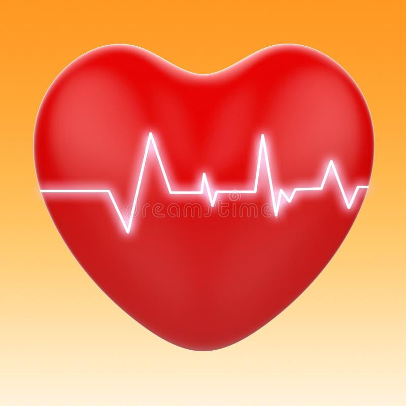 L'électro sur le coeur signifie la cardiologie ou le coeur illustration de vecteur